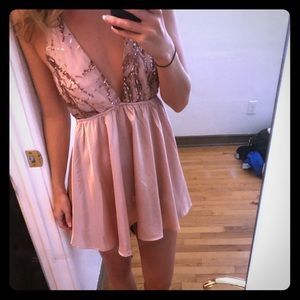 Boutique sequin and satin dress